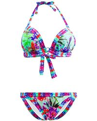 Les P'tites Bombes - 2 Pieces Black Swimsuit Triangle Push Up B Cup Savana 003 - Lyst