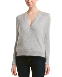 Rebecca Taylor - Angora-blend Wrap Sweater - Lyst