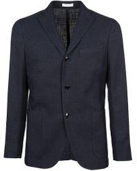 Boglioli - Men's Blue Silk Blazer - Lyst