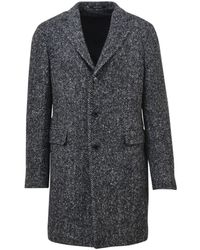 Tagliatore - Men's Grey Wool Coat - Lyst
