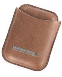 Brunello Cucinelli - Men's Brown Distressed Leather Cardholder - Lyst