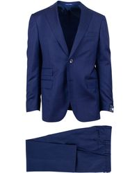 Pal Zileri - Sartoriale Navy Blue Wool Two Button Suit - Lyst