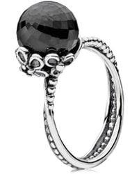 PANDORA - Garden Odyssey Silver Spinel & Crystal Ring - Lyst