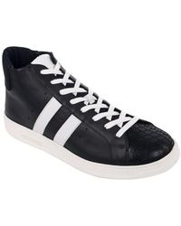 Bikkembergs - Men's Black Leather R-evolution Low Top Trainers - Lyst