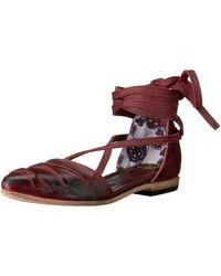 Freebird by Steven - Womens Eryn Leather Closed Toe Ankle Wrap Slide Flats - Lyst