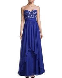 La Femme - Elegant Floor-length Gown - Lyst