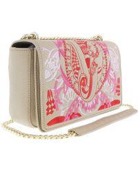 8d4c39c85b Versace - Ee1vrbbr7 Light Brown Shoulder Bag With Silk Thread Embroidery -  Lyst
