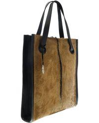 Roberto Cavalli - Natural black silver Goat Hair Tote Bag - Lyst 1faa73fbac4a0