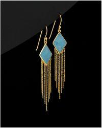 Argento Vivo - 18k Plated Silver Blue Aventurine Drop Earrings - Lyst