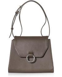 Joanna Maxham - Lady O Shoulder Bag Olive Green Leather - Lyst