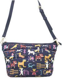 Desigual - Women's Blue Polyester Shoulder Bag - Lyst