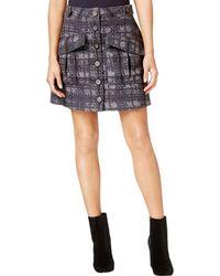 RACHEL Rachel Roy - Womens Printed Textured Cargo Skirt - Lyst