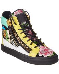 Giuseppe Zanotti - Shell Embellished Leather High-top Sneaker - Lyst