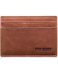 Steve Madden - Mealu Leather Card Carrier - Lyst
