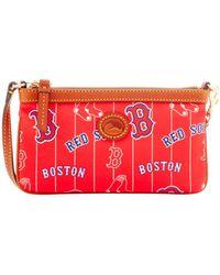 Dooney & Bourke - Mlb Boston Red Sox Large Slim Wristlet - Lyst