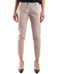 Etiqueta Negra - Women's Beige Cotton Pants - Lyst