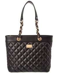 St. John - Quilted Leather Tote - Lyst