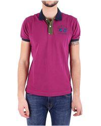 La Martina - Women's Fuchsia Cotton Polo Shirt - Lyst