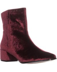 Chinese Laundry - Florentine Ankle Boots, Wine Velvet - Lyst
