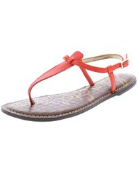 eccda747dc624c Sam Edelman - Womens Gigi Buckle T-strap Thong Sandals - Lyst