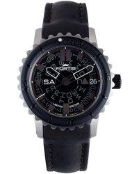 Fortis - : Mens B-42 Big Black Black Watch - Lyst
