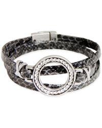 Saachi - Leather Wrap Studded Bracelet - Lyst