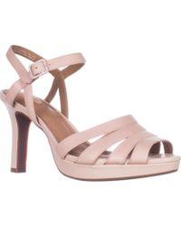 Clarks - Mayra Poppy Platform Comfort Sandals - Dusty Pink - Lyst