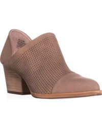 Steve Madden - Steven Skelos Perforated Ankle Booties, Taupe - Lyst