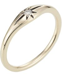 Jewelista - Diamond Stackable Star Ring In 14k Yellow Gold (0.04cts, H-i, I1) - Lyst