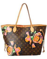 Louis Vuitton - Limited Edition Stephen Sprouse Roses Monogram Canvas Neverfull Mm - Lyst