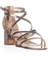 Material Girl - Mg35 Minez Strappy Block Heel Sandals, Rose Gold - Lyst