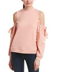 Kensie - Cold-shoulder Sweatshirt - Lyst