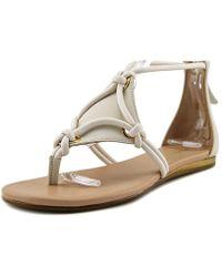 BCBGMAXAZRIA | Eneration Sara Open Toe Leather Sandals | Lyst