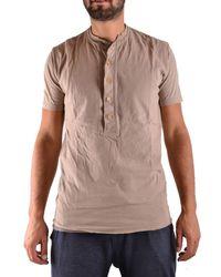 Yohji Yamamoto - Men's Beige Cotton T-shirt - Lyst