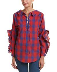 Jealous Tomato - Lace-up Shirt - Lyst