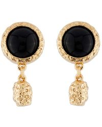 Les Nereides - Byzantine Treasures Black Stone And Gold Nugget Earrings - Lyst
