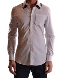 Frankie Morello - Men's Mcbi125034o White Cotton Shirt - Lyst