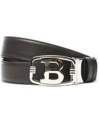 Bally - Men's Brown Leather Belt - Lyst