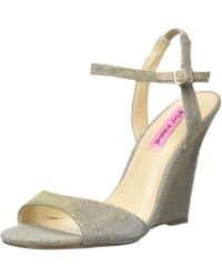Betsey Johnson - Womens Duane Fabric Open Toe Special Occasion Ankle Strap Sand... - Lyst
