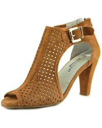 Eric Michael - Chrystal Shootie Open Toe Suede Sandals - Lyst