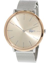 Lacoste - Women's Moon 2001002 Silver Stainless-steel Quartz Fashion Watch - Lyst