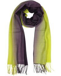 Mila Schon - Women's Yellow Wool Scarf - Lyst