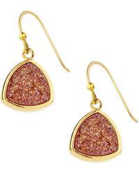 Saachi - Triangle Dangle Druzy Earring Aqua - Lyst