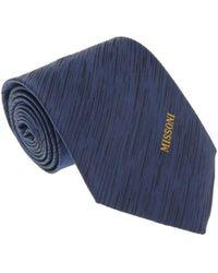 Missoni - U5573 Navy Pencil 100% Silk Tie - Lyst