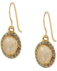Karen Kane - 14k Plated Crystal & Resin Drop Earrings - Lyst
