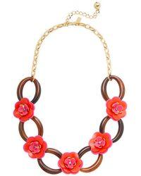 Kate Spade - Rosie Posies 12k Plated Link Necklace - Lyst