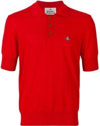 Vivienne Westwood - Men's Red Cotton Polo Shirt - Lyst