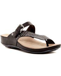 Romika - Womens Fidschi 34 Leather Split Toe Casual Slide Sandals - Lyst