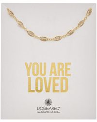 Dogeared - You Are Loved 14k Over Silver Filigree Chain Choker - Lyst