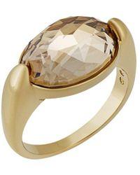 Swarovski - Crystal Vanilla Plated Ring - Lyst